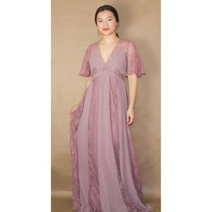 (293) asos blush rose lace maxi dress